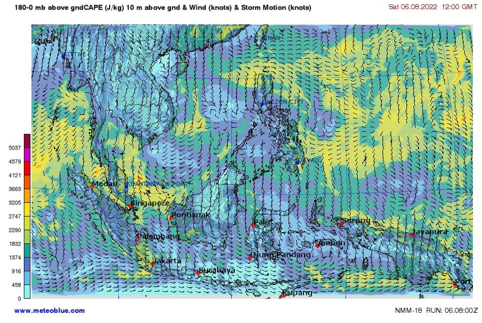Southeast Asia Weather Map.Weather Maps Southeast Asia Meteoblue