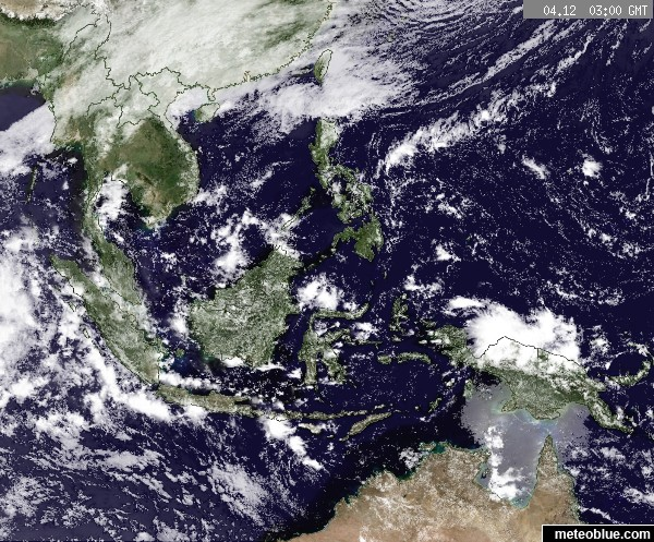 Weather Maps Southeast Asia Meteoblue
