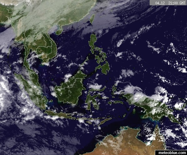 Weather Maps Southeast Asia Meteoblue - World satellite weather map