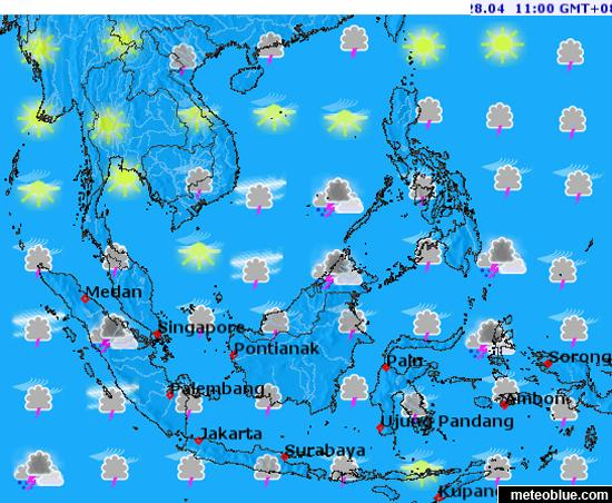 Southeast Asia Weather Map.Panahon Ngayon Southeast Asia Weather Maps By Meteoblue
