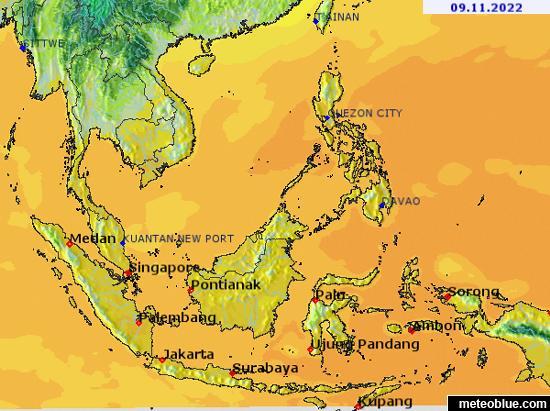 Weather maps - Southeast Asia - meteoblue