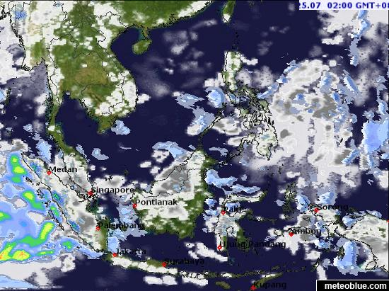 Show The Map Of Asia.Weather Maps Southeast Asia Meteoblue