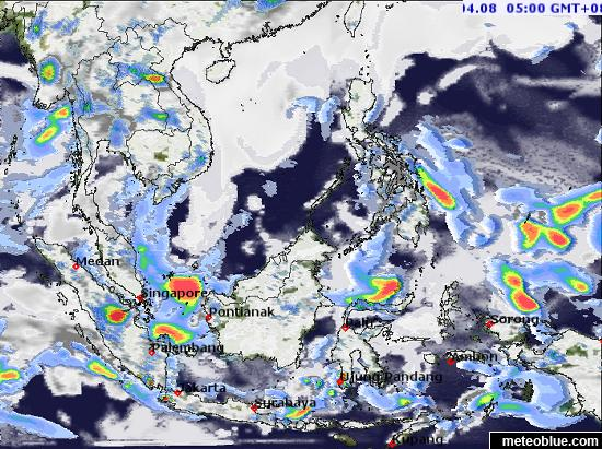 Weather maps - Southeast Asia - meteoblue