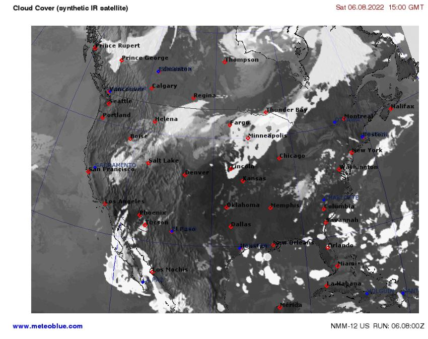 Boise Weather Map.Weather Maps United States Meteoblue