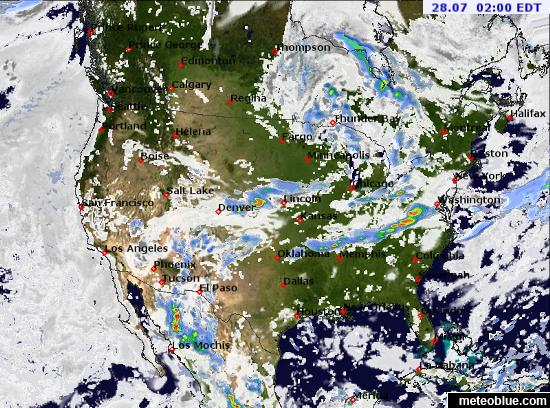 Map Of United States Weather.Weather Maps United States Meteoblue