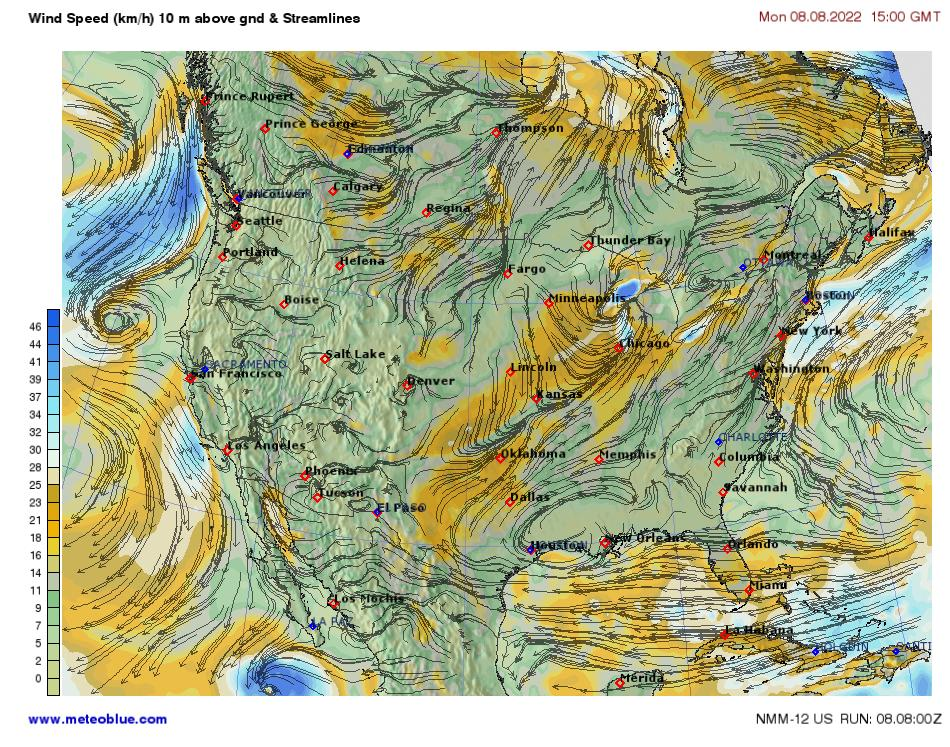 Weather maps - United States - meteoblue