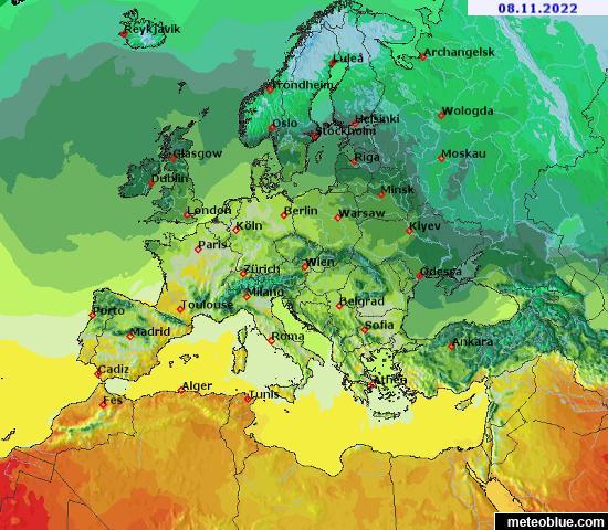 Weather Maps Europe Meteoblue