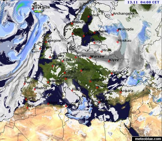 Karta Europa Portugal.Weather Maps Europe Meteoblue