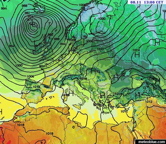 Mapa De Isobaras Europa.Mapas Meteorologicos Europa Meteoblue