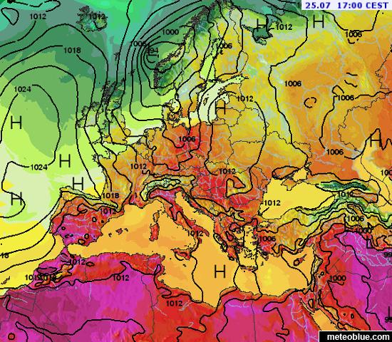 Weather maps - Europe - meteoblue