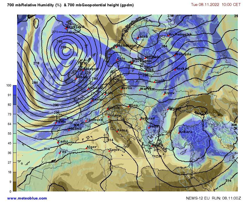 Hărţi Meteo Europa Meteoblue