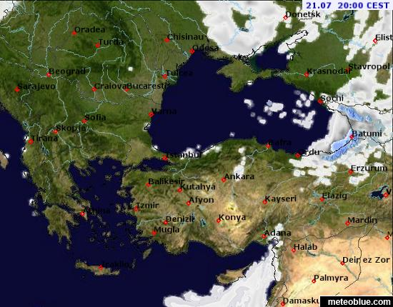 Weather Maps Black Sea Meteoblue - Portugal map weather