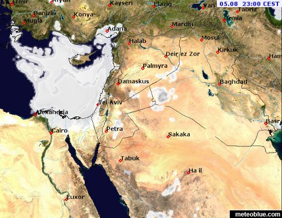 Weather maps - Middle East - meteoblue