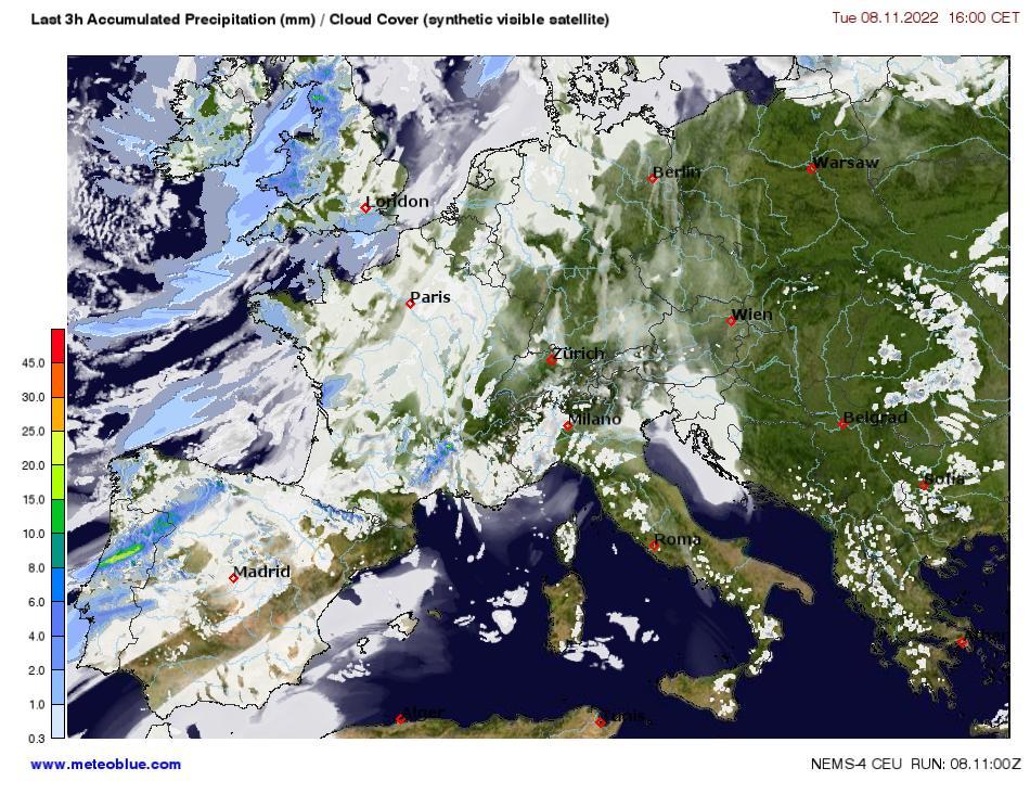 Karti Centralna Evropa Meteoblue