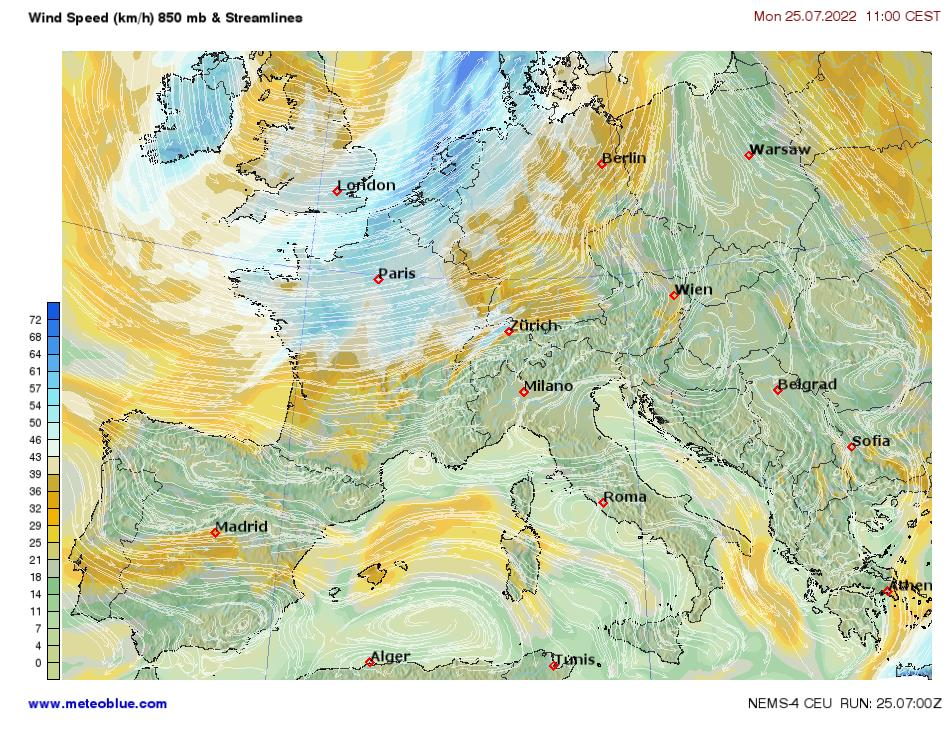 Weather maps - Central Europe - meteoblue
