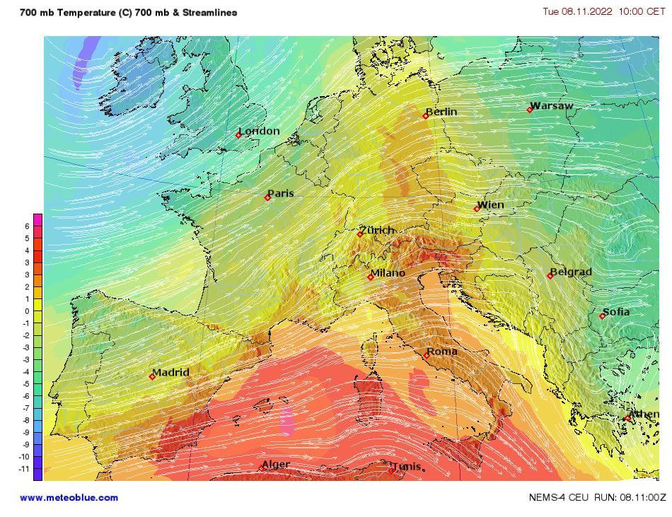 Hărţi Meteo Europa Centrală Meteoblue