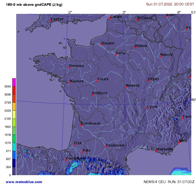 weather maps france meteoblue