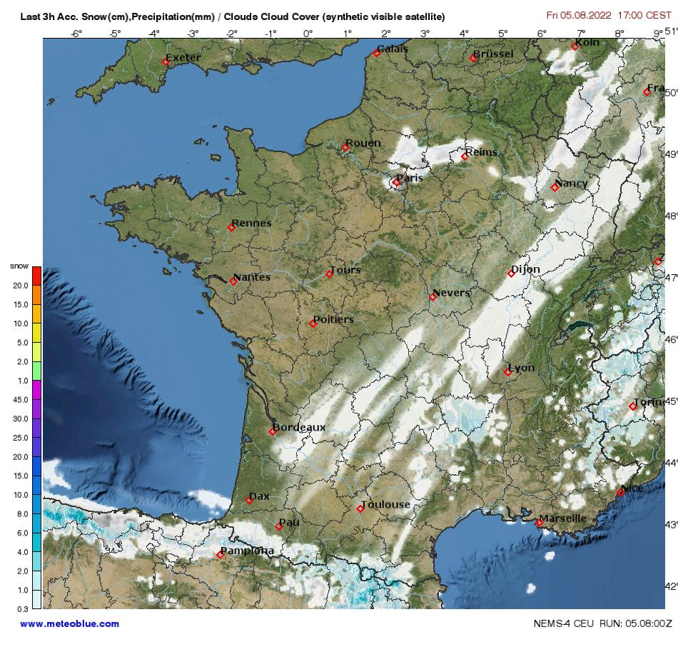 Map Of France Nancy.Weather Maps France Meteoblue