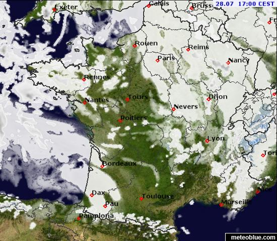 Map Of France Weather.Weather Maps France Meteoblue