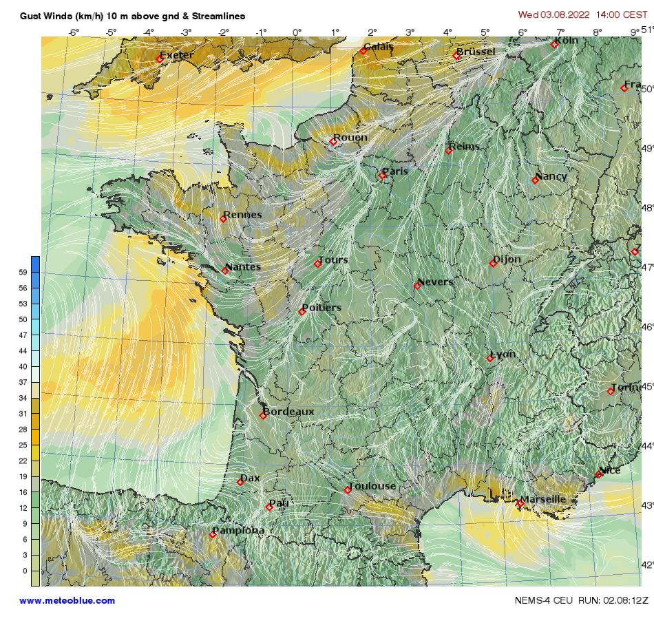 Weather maps france meteoblue for Meteoblue grenoble