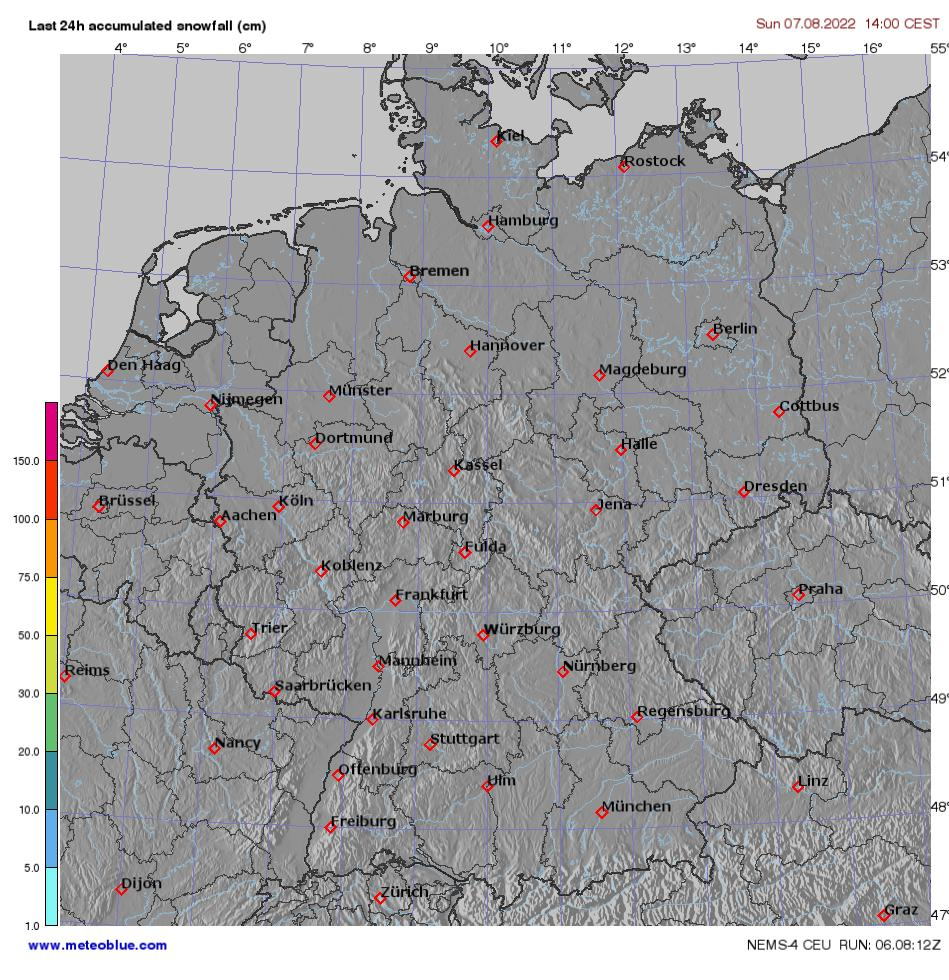 Weather Map Of Germany.Weather Maps Germany Meteoblue