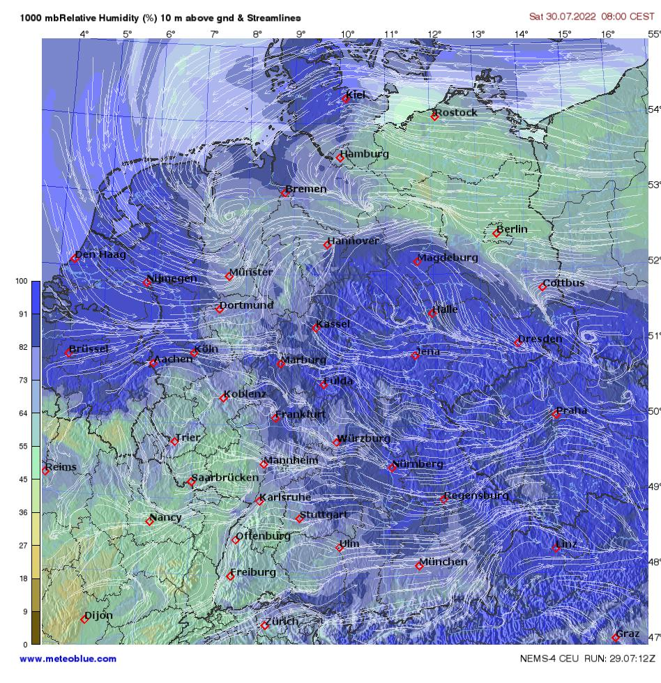 Show Map Of Germany.Weather Maps Germany Meteoblue