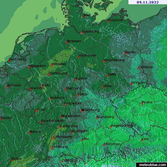 Hărţi Meteo Germania Meteoblue