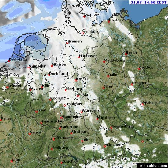 Saarbrucken Germany Map.Weather Maps Germany Meteoblue