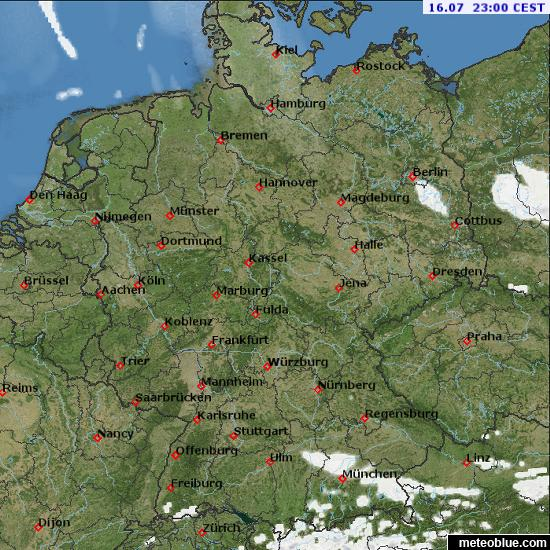 Weather Maps Germany Meteoblue - Map germany