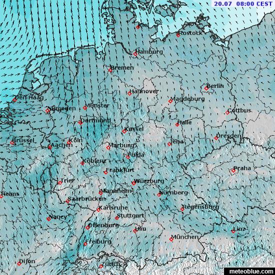 Weather Maps Germany Meteoblue