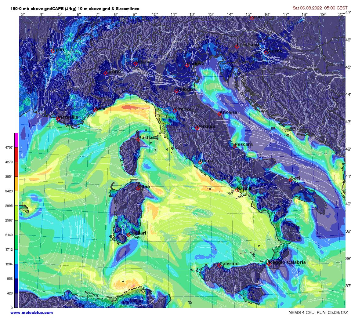 Show A Map Of Italy.Weather Maps Italy Meteoblue