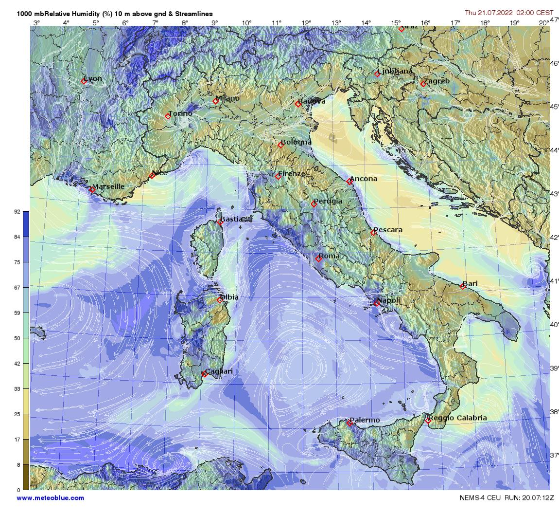 Hărţi Meteo Italia Meteoblue