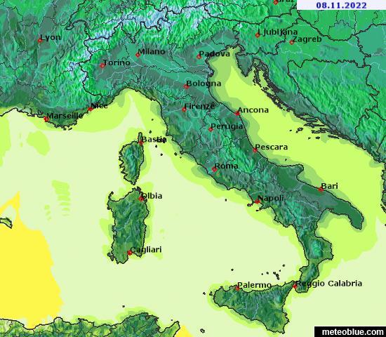 خرائط الطقس إيطاليا Meteoblue