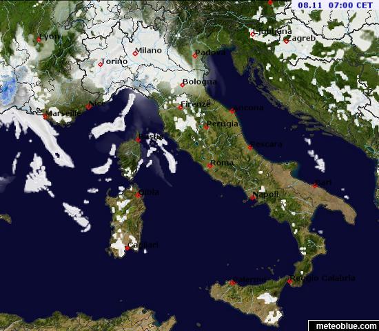 Meteoroloske Mape Italija Meteoblue