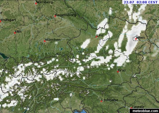 Weather Maps Austria Meteoblue - Austria climate map