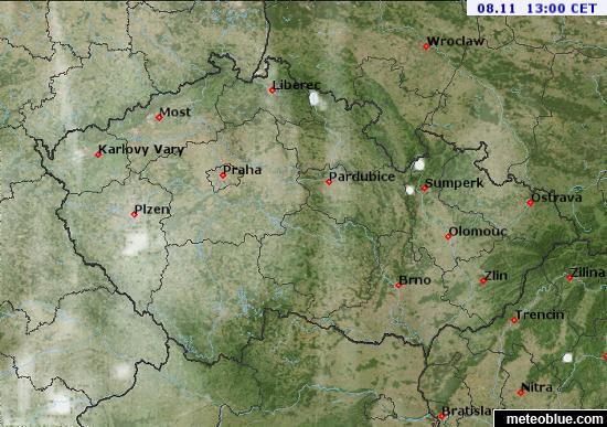 Mapa Pocasi Ceska Republika Meteoblue