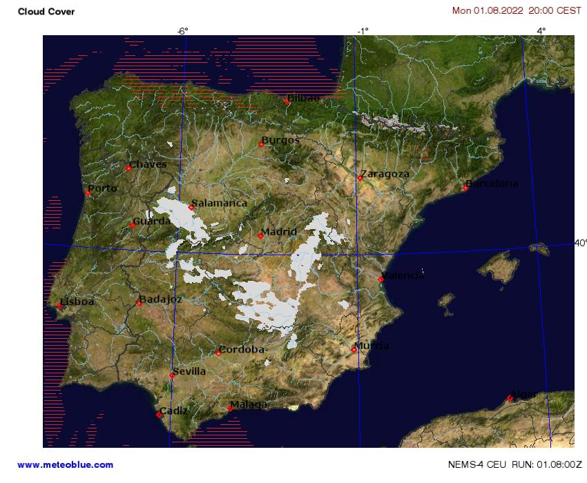 Show Me The Map Of Spain.Weather Maps Spain And Portugal Meteoblue
