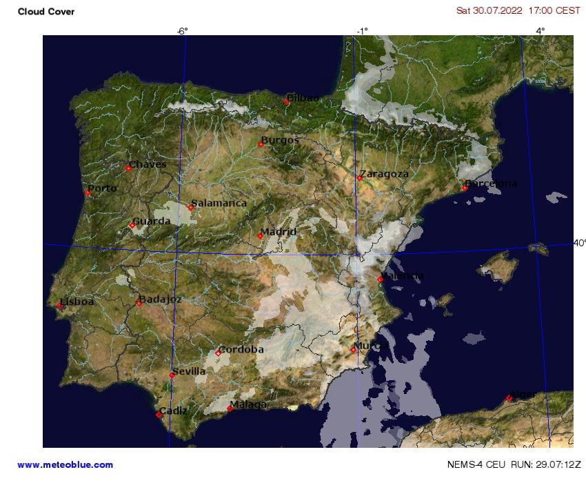 Map Of Portugal And Spain Detailed.Weather Maps Spain And Portugal Meteoblue