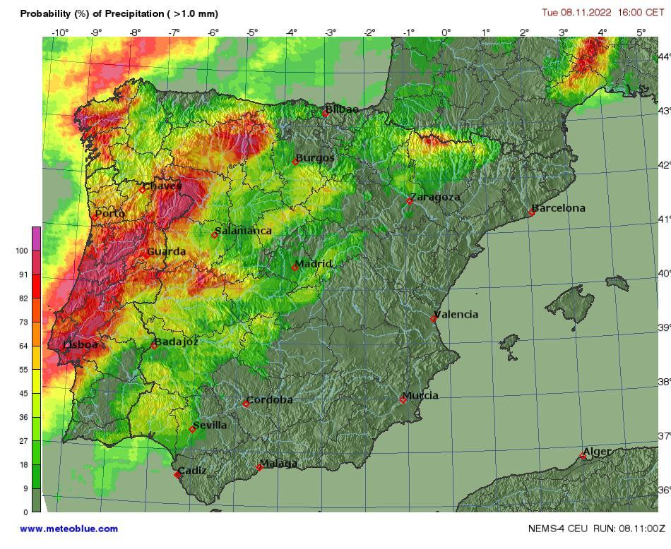 Carte Espagne Telecharger.Cartes Meteo Espagne Et Portugal Meteoblue