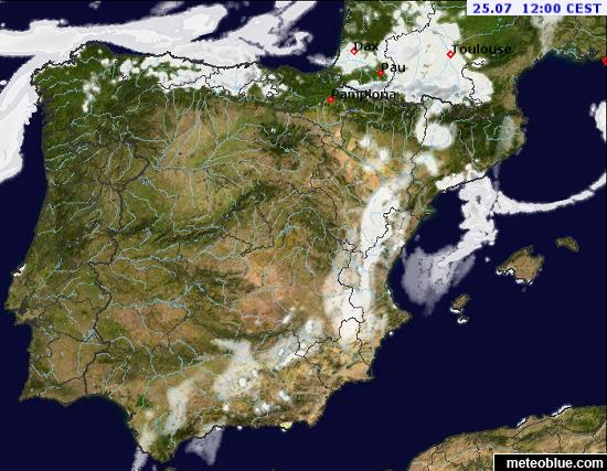 Weather Maps Spain And Portugal Meteoblue - Portugal map weather