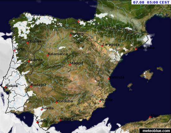 Map Of Portugal And Spain.Weather Maps Spain And Portugal Meteoblue