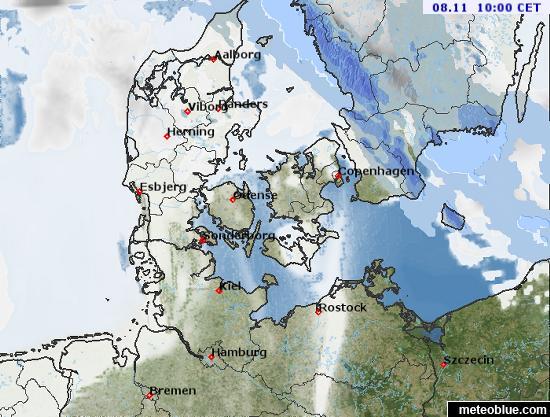 Hărţi Meteo Danemarca Meteoblue