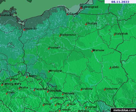 Polen Karte 2019.Wetterkarten Polen Meteoblue