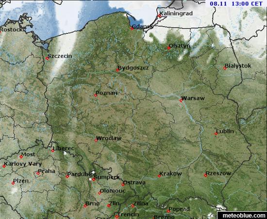 Mapy Pogody Polska Meteoblue