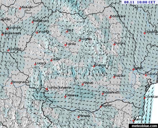 Idojarasi Terkepek Romania Meteoblue