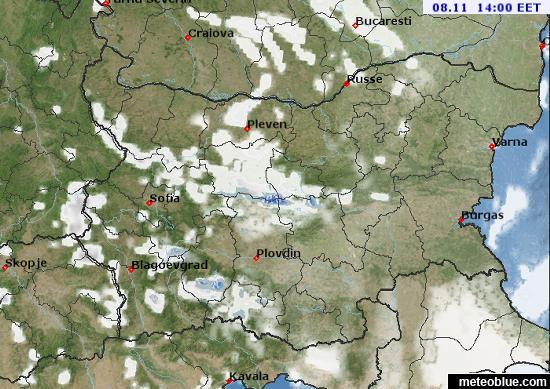 Weather Maps Bulgaria Meteoblue - Bulgaria map