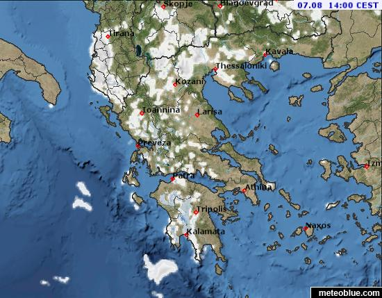 Ioannina Greece Map.Weather Maps Greece Meteoblue