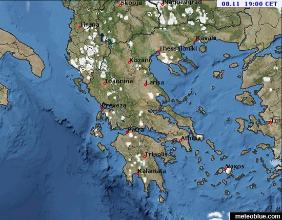 خرائط الطقس اليونان Meteoblue