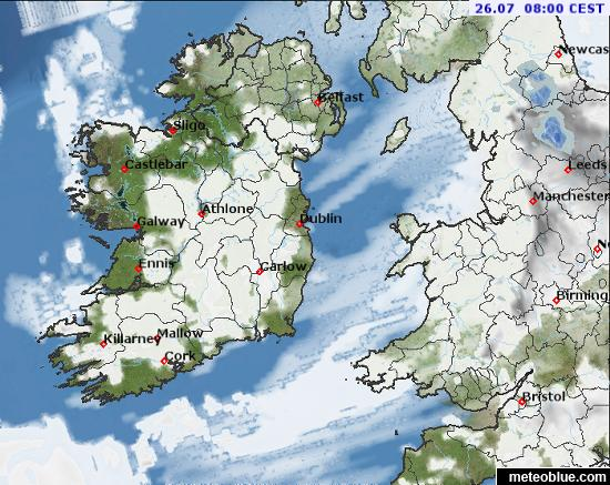 Weather maps - Ireland - meteoblue on