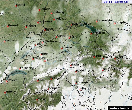 Weather maps - Switzerland - meteoblue